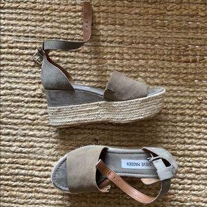 Steve Madden platform sandals.